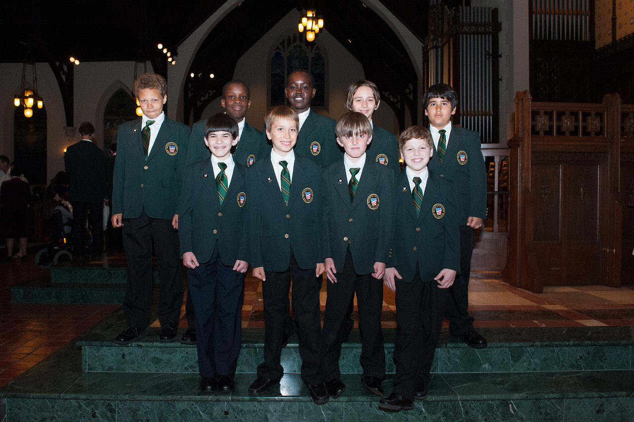 Nine of the new KSB jacket recipients after the Mother's Day Concert